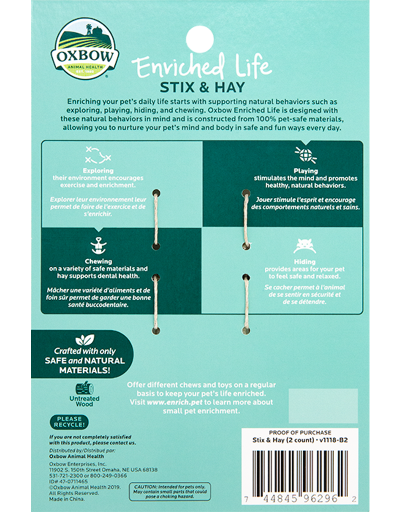 Oxbow Animal Health Enriched Life - Stix & Hay