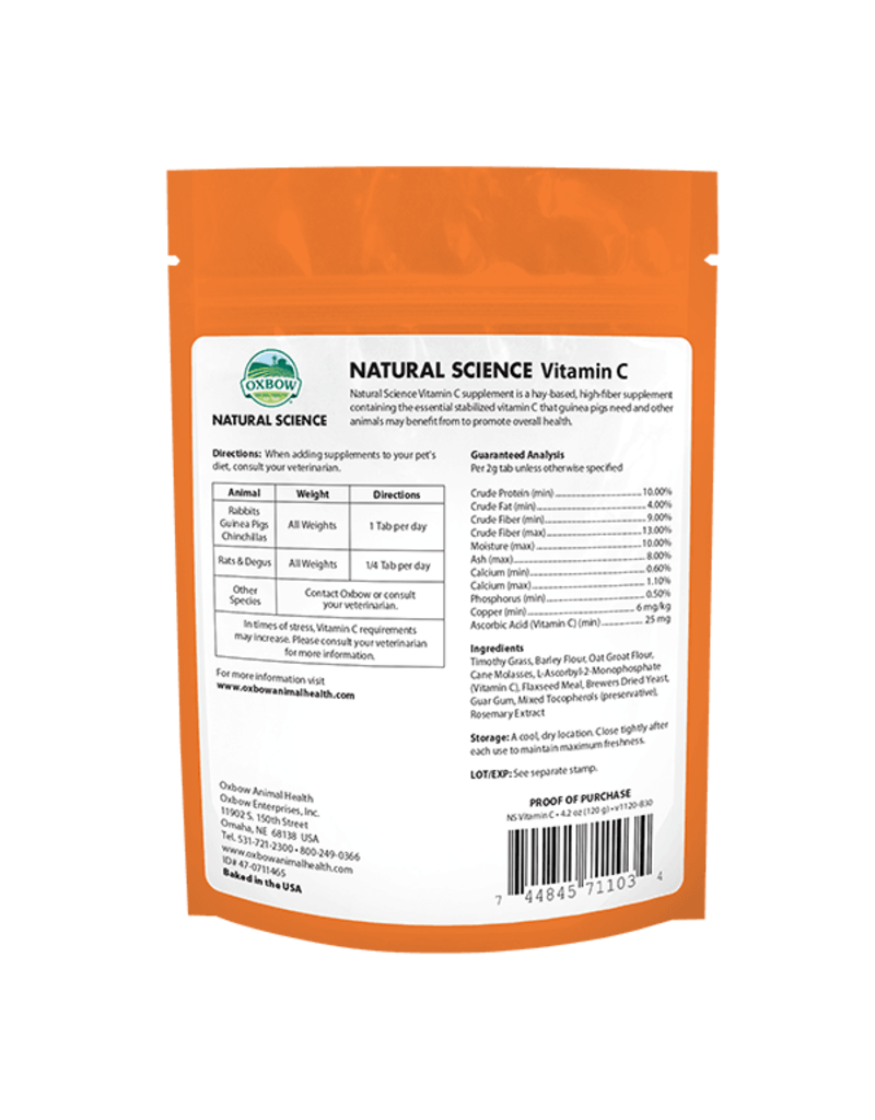 Oxbow Animal Health Natural Science Vitamin C