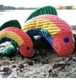 HuggleHounds Rauccous Rainbow Trout Knottie Plush Toy