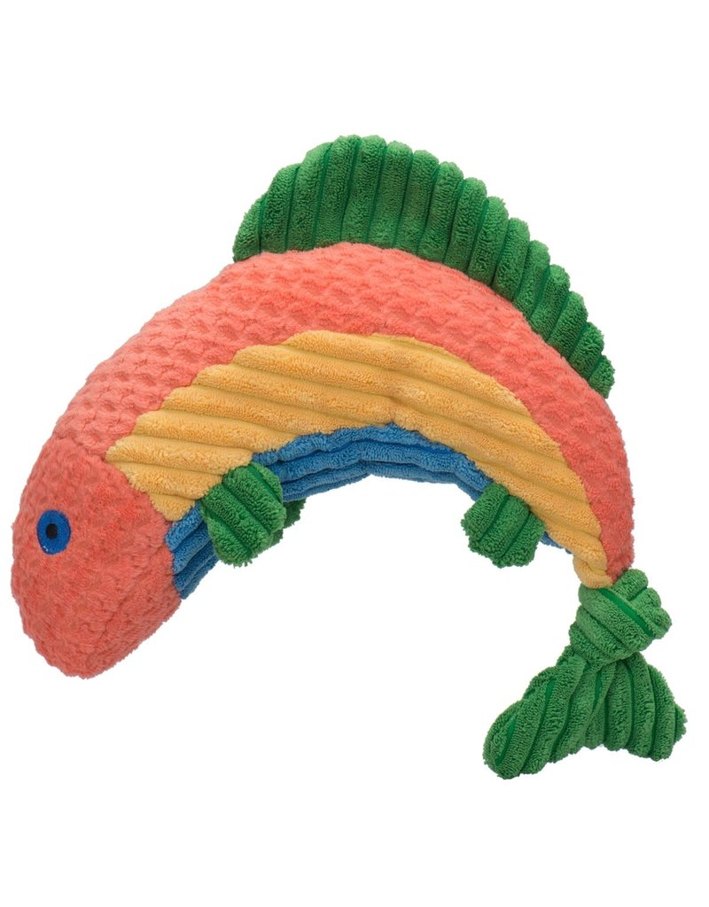 HuggleHounds Rauccous Rainbow Trout Knottie Plush Toy
