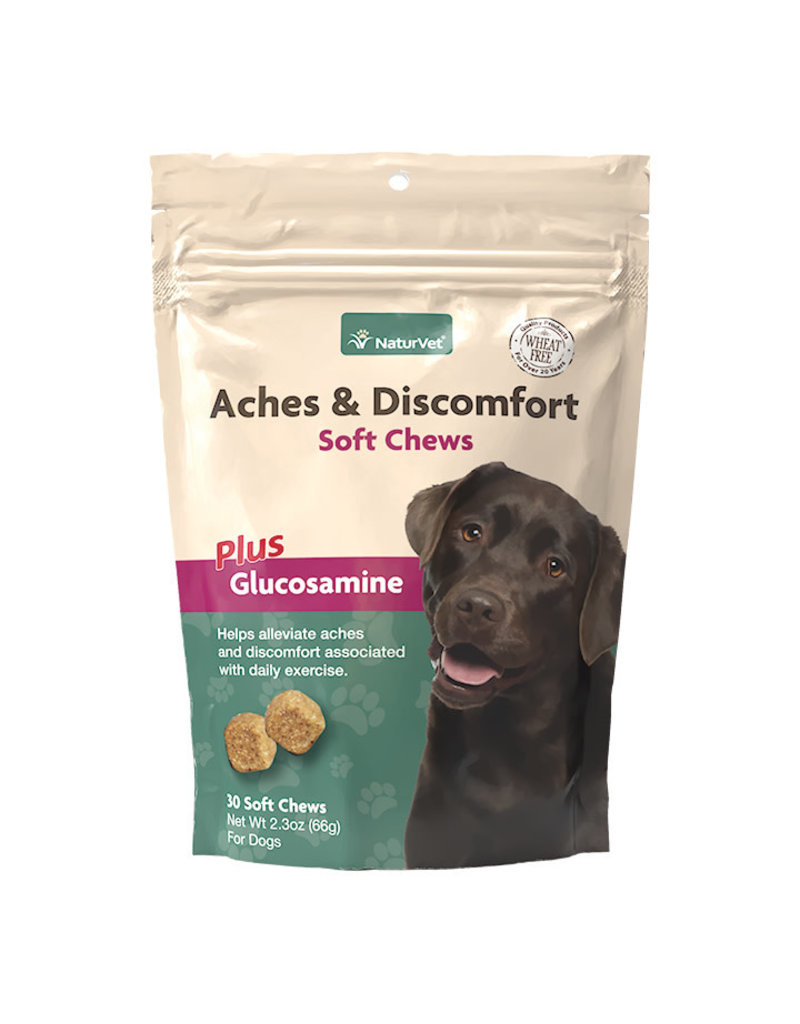 NaturVet Aches & Discomfort Soft Chews Plus Glucosamine