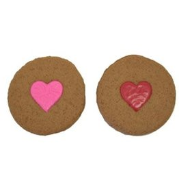 Preppy Puppy Bakery Valentine's Heart Print Cookie