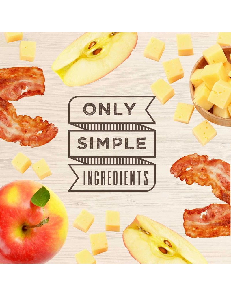 Wag More Bark Less Oven Baked Biscuits with Bacon, Cheese & Apples