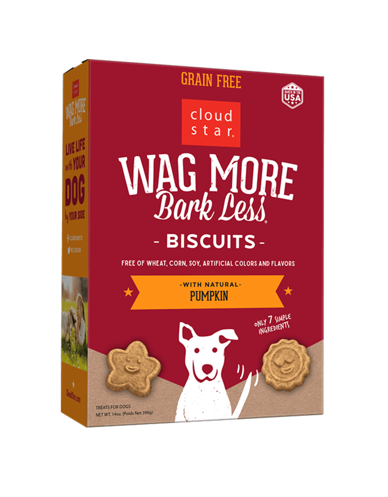 Wag More Bark Less Oven Baked Biscuits with Pumpkin