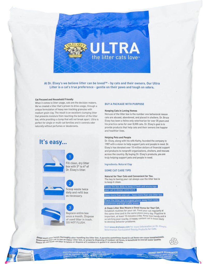 Dr. Elseys Dr. Elsey's Precious Cat Ultra Unscented Clumping Clay Cat Litter