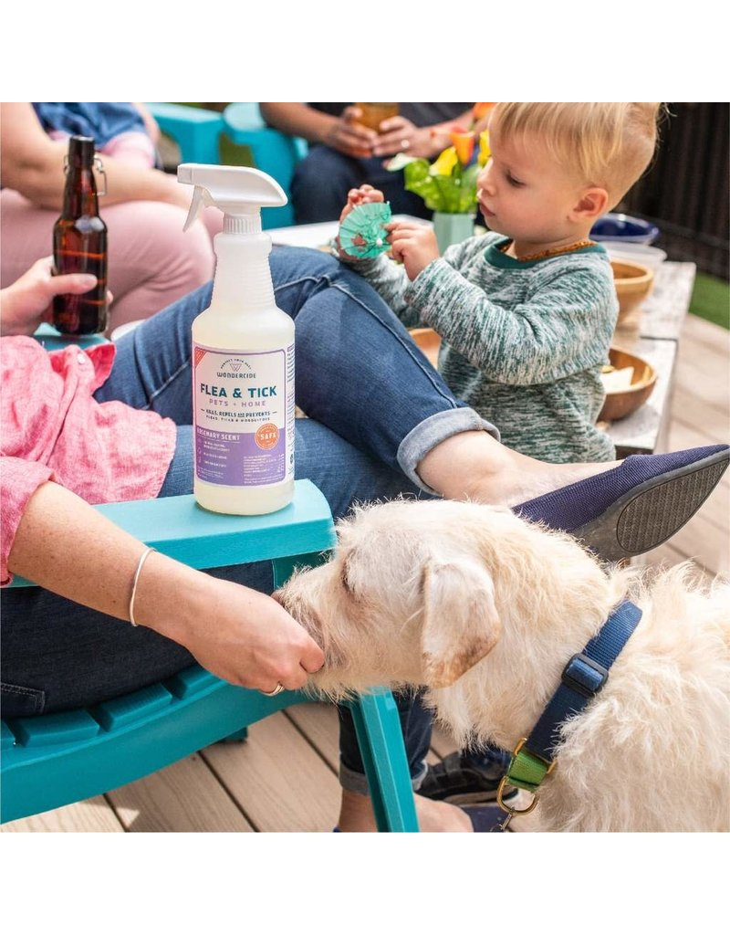 Wondercide Rosemary Flea & Tick Spray for Pets + Home with Natural Essential Oils