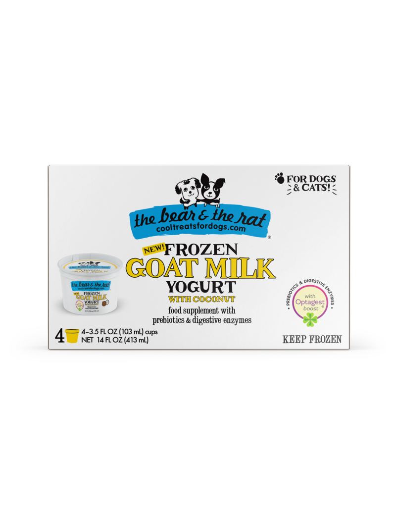 The Bear & The Rat Frozen Goat Milk Yogurt with Coconut and Optagest Boost