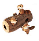 ZippyPaws Burrow Log with 3 Chipmunks
