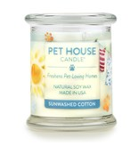 Pet House by One Fur All Sunwashed Cotton Pet Odor Candle