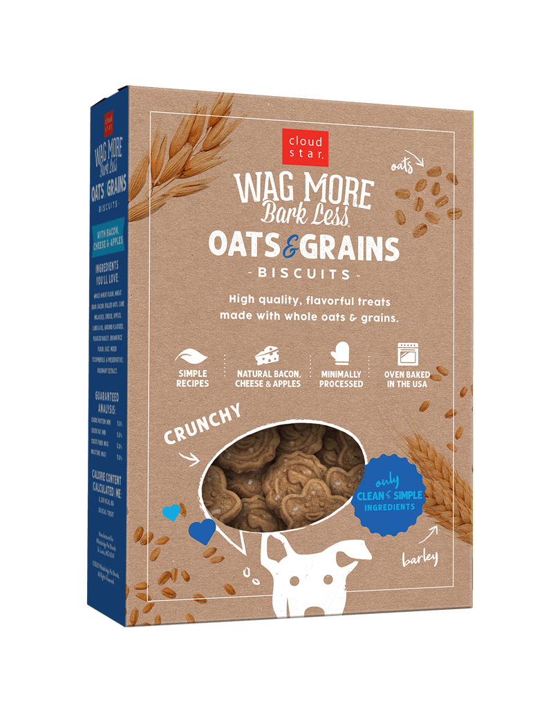 Wag More Bark Less Oven Baked Biscuits: Bacon, Cheese & Apples