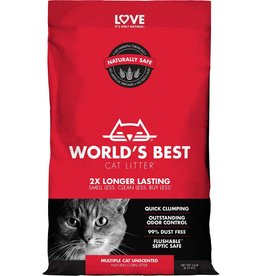 World's Best Cat Litter World's Best Multi-Cat Unscented Clumping Corn Cat Litter