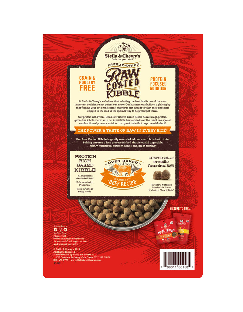Stella & Chewy's Raw Coated Baked Kibble Grass-Fed Beef