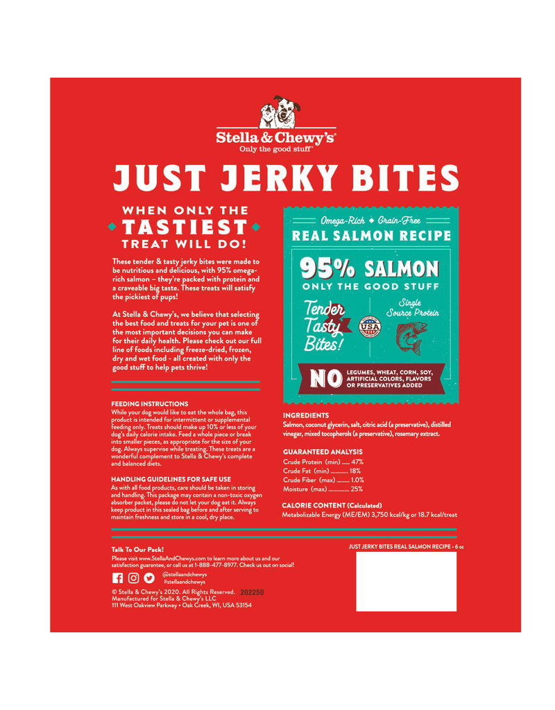 Stella & Chewy's Just Jerky Bites Salmon
