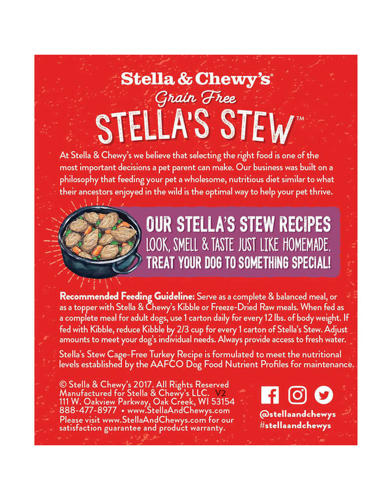 Stella & Chewy's Stella's Stew - Cage Free Turkey Recipe