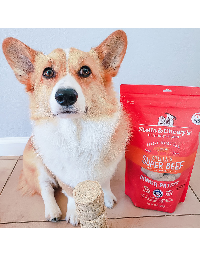 Stella & Chewy's Stella's Super Beef Dinner Patties Freeze-Dried Raw Dog Food