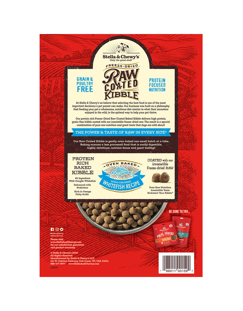 Stella & Chewy's Raw Coated Baked Kibble Wild-Caught Whitefish