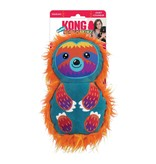 KONG KONG RoughSkinz Suedez Sloth Squeaky Dog Toy