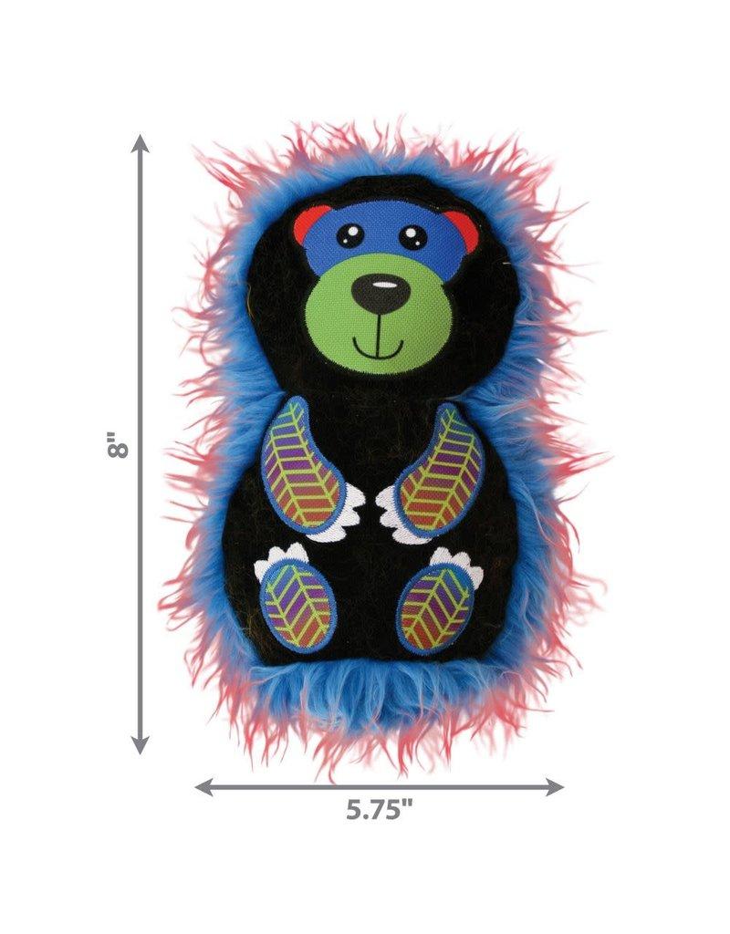 KONG KONG RoughSkinz Suedez Bear Squeaky Dog Toy