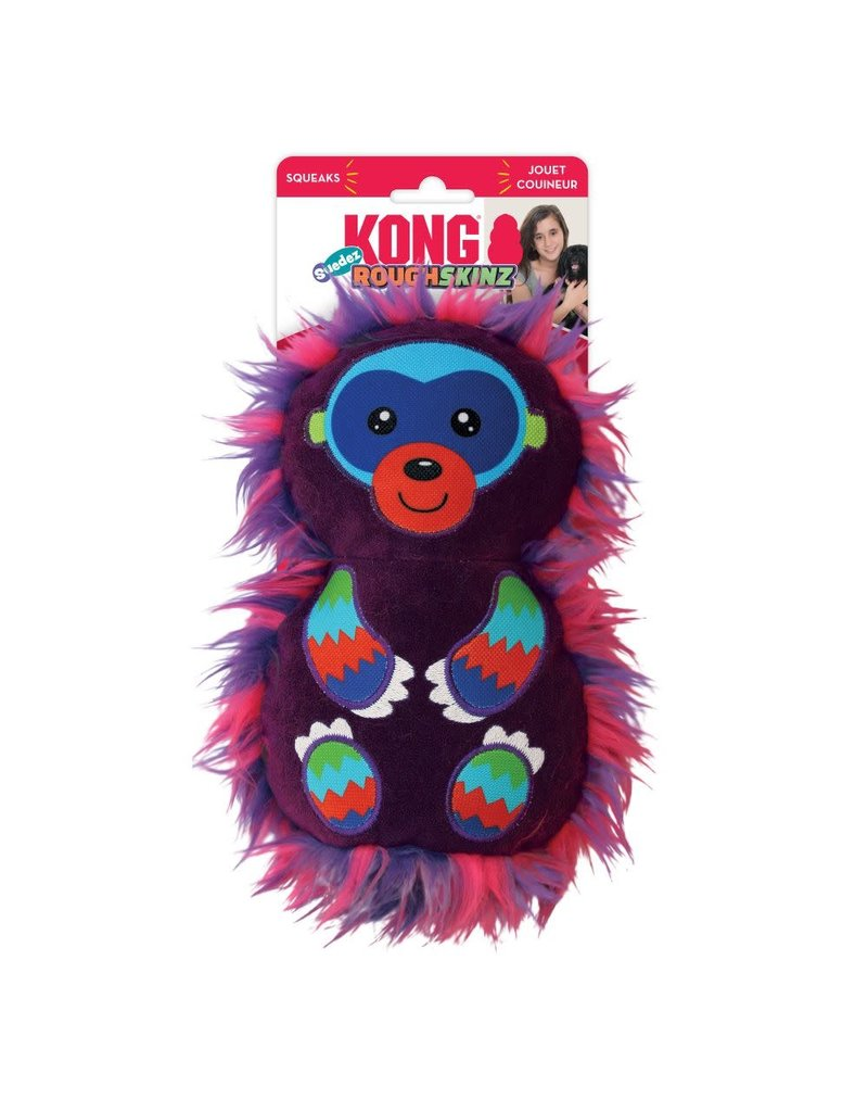 KONG KONG RoughSkinz Suedez Monkey Squeaky Dog Toy