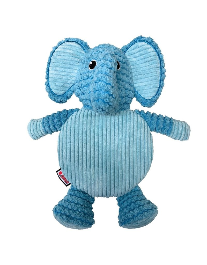 KONG KONG Low Stuff Crackle Tummiez Elephant Squeaky Plush Dog Toy
