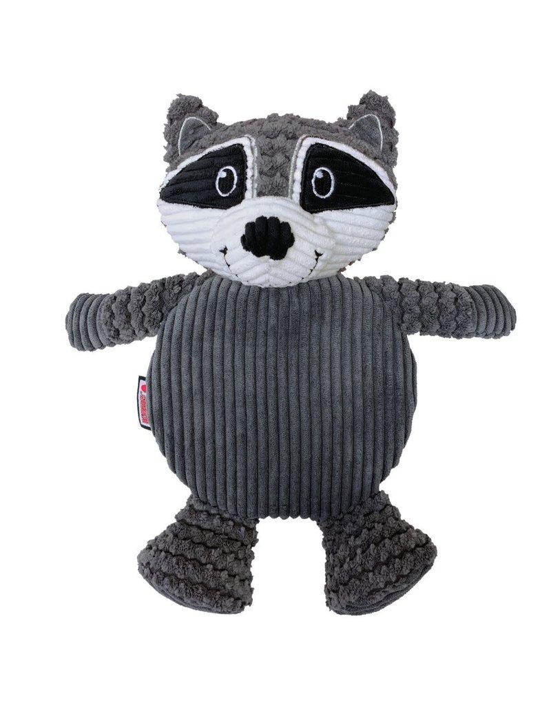 KONG KONG Low Stuff Crackle Tummiez Raccoon Squeaky Plush Dog Toy