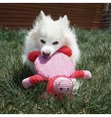 KONG KONG Low Stuff Crackle Tummiez Pig Squeaky Plush Dog Toy