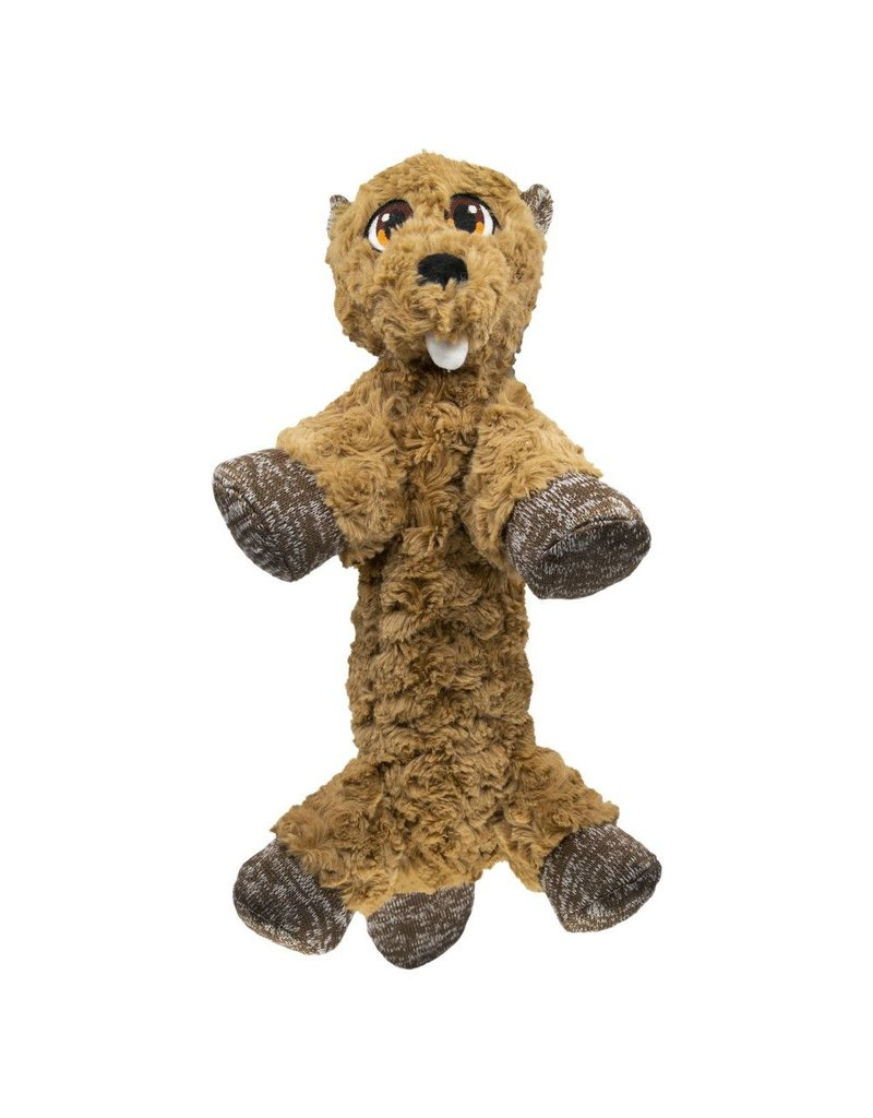 KONG KONG Low Stuff Flopzie Beaver Squeaky Plush Dog Toy