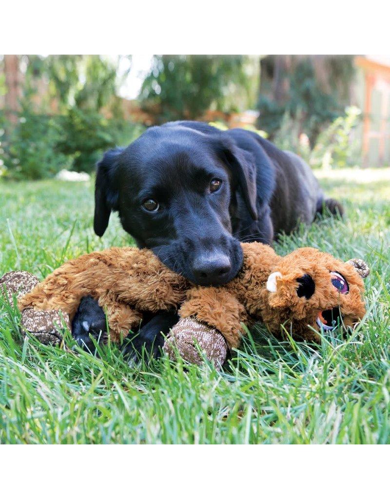 KONG KONG Low Stuff Flopzie Fox Squeaky Plush Dog Toy