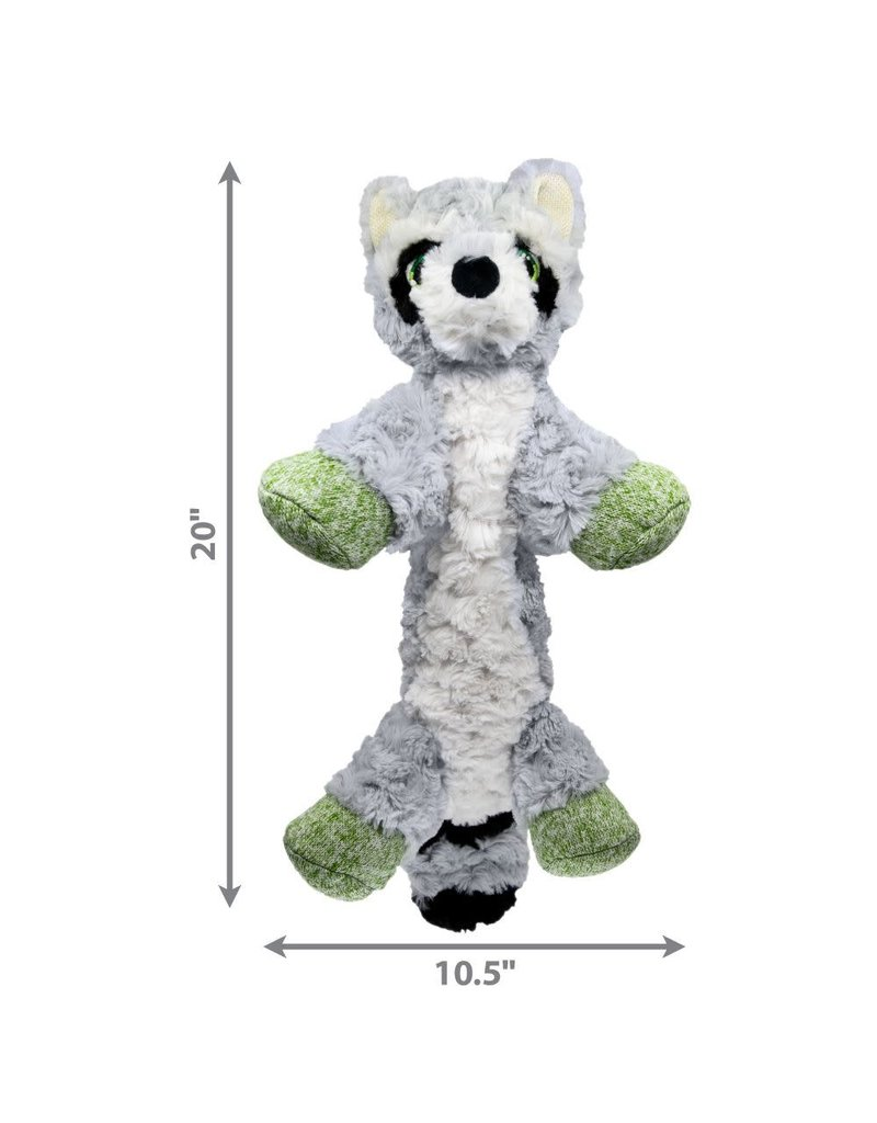 KONG KONG Low Stuff Flopzie Raccoon Squeaky Plush Dog Toy