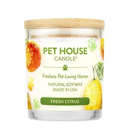 Pet House by One Fur All Fresh Citrus Pet Odor Candle