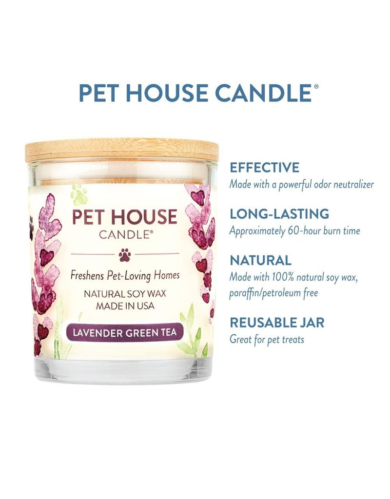 Pet House by One Fur All Lavender Green Tea Pet Odor Candle