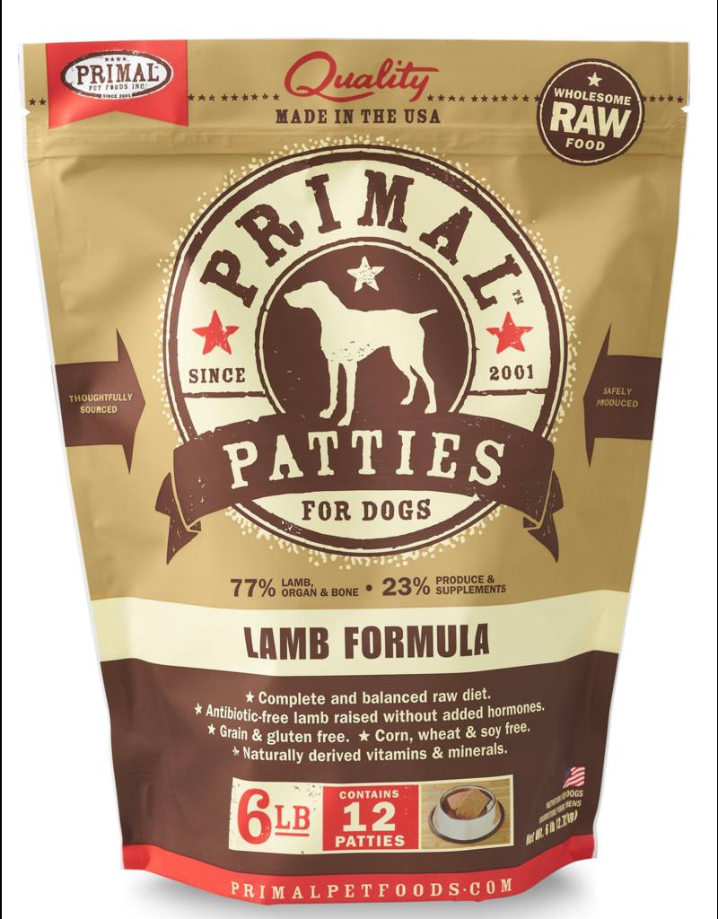 Primal Pet Foods Raw Frozen Canine Lamb Formula 6lb