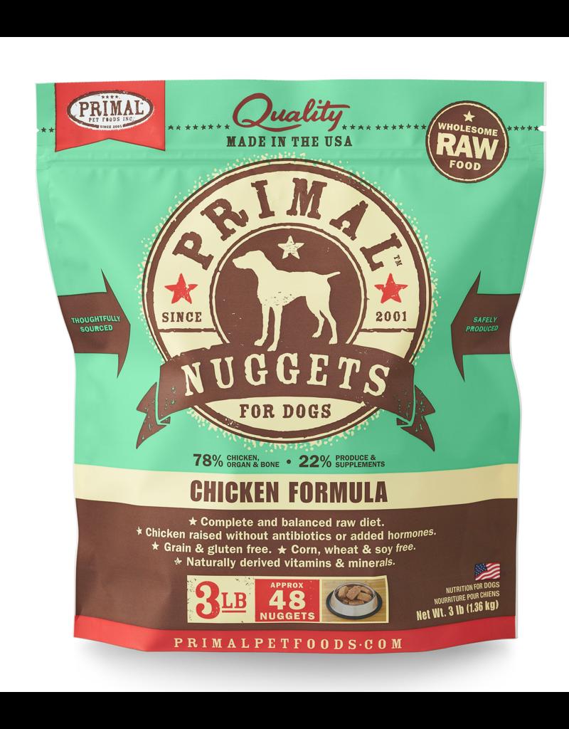 Primal Pet Foods Raw Frozen Canine Chicken Formula 3lb