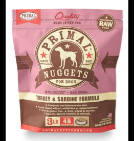 Primal Pet Foods Primal Raw Frozen Canine Turkey & Sardine Formula 3lb