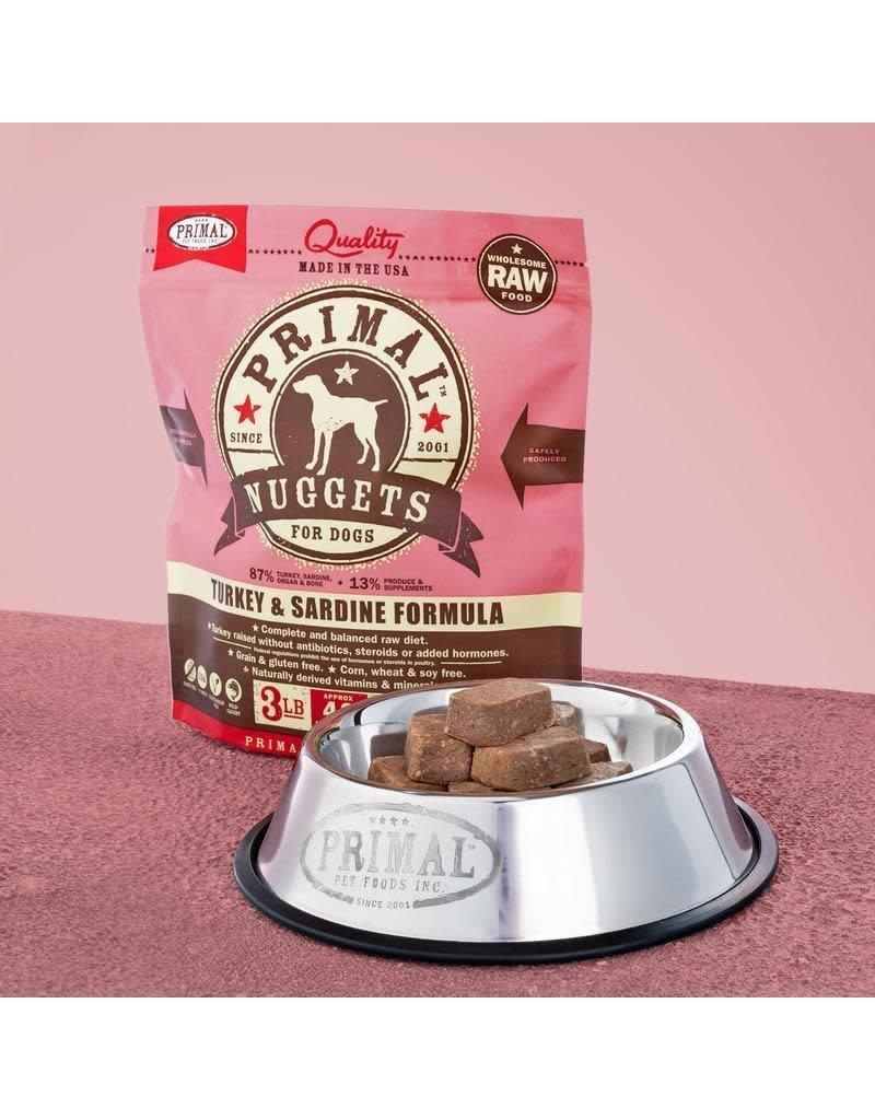 Primal Pet Foods Raw Frozen Canine Turkey & Sardine Formula 3lb