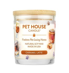 Pet House by One Fur All Caramel Latte Pet Odor Candle