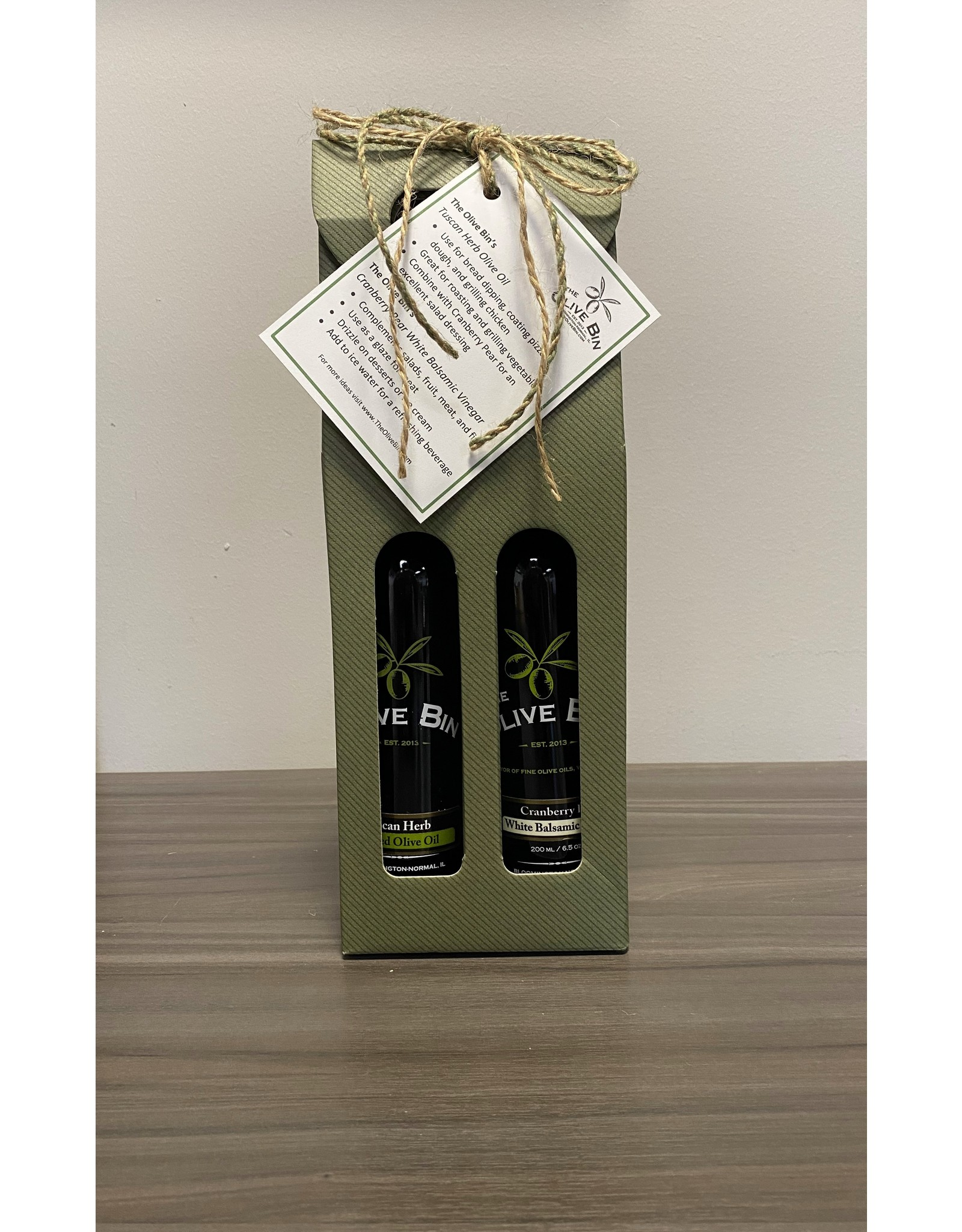 Pairing - Tuscan & Cranberry Pear White Balsamic with Idea Card