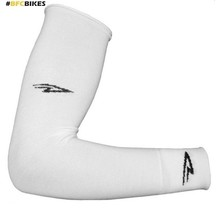 DEFEET COTTON ARM WARMERS WHITE LARGE