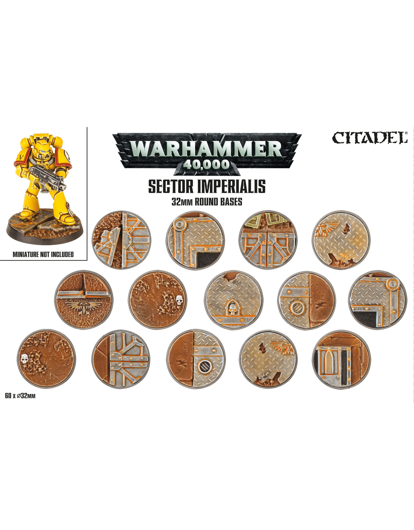 Warhammer 40,000 Sector Imperialis 32mm Round Bases