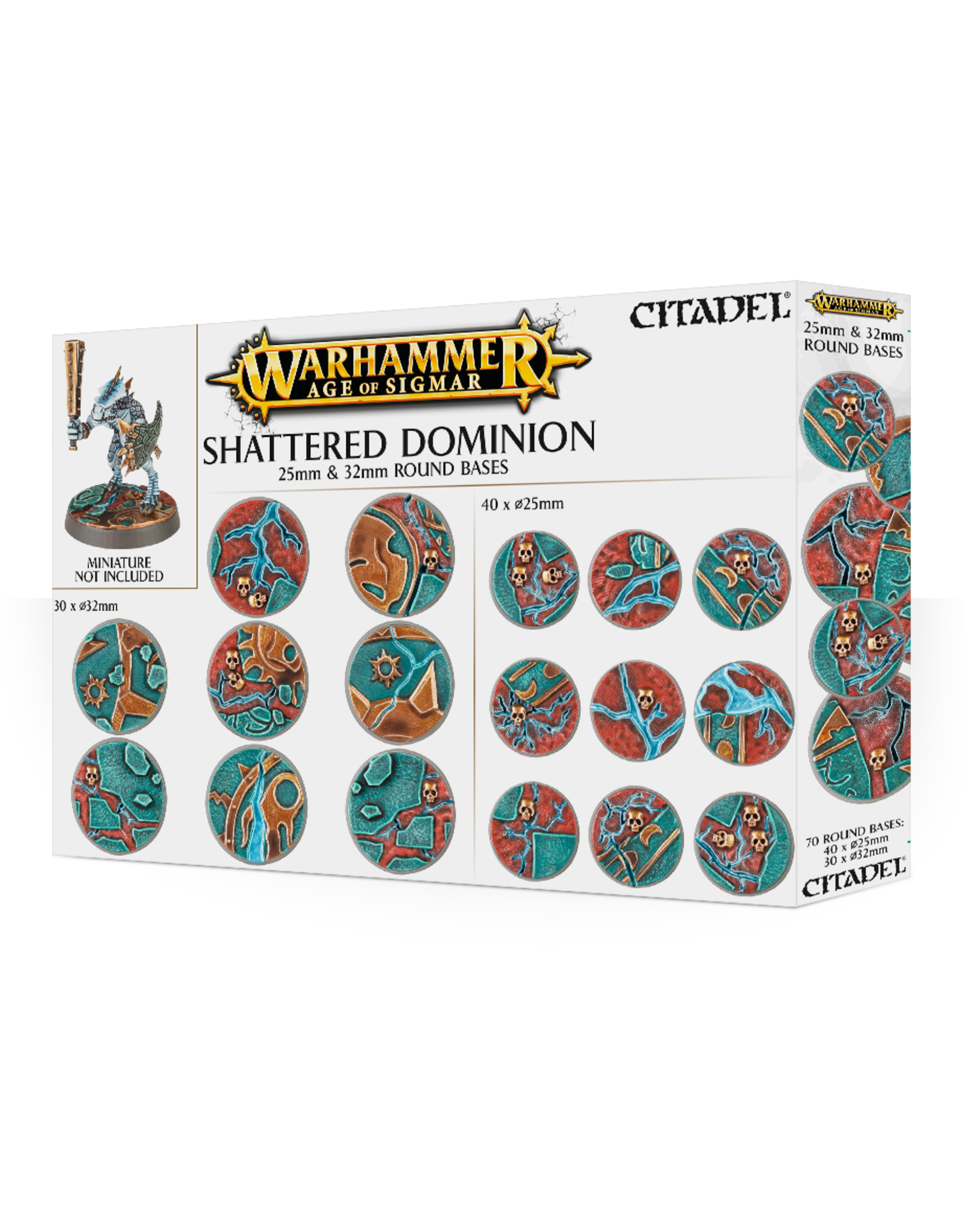 Warhammer Age of Sigmar Shattered Dominion 25mm & 32mm Round Bases