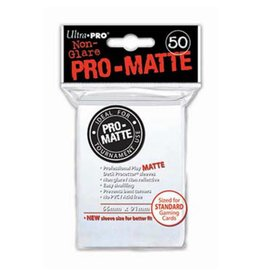 Ultra Pro Pro-Matte Deck Protectors Standard White 50