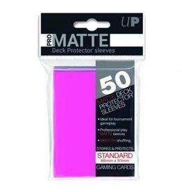 Ultra Pro Pro-Matte Deck Protectors Standard Bright Pink 50