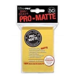 Ultra Pro Pro-Matte Deck Protectors Standard Yellow 50
