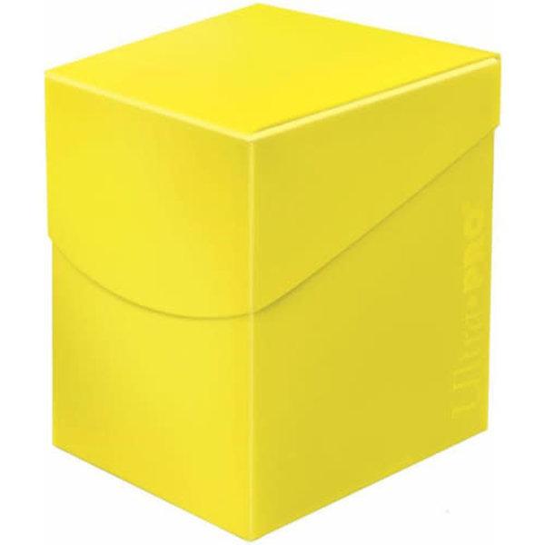 Ultra Pro Pro 100+ Eclipse Deck Box Lemon Yellow