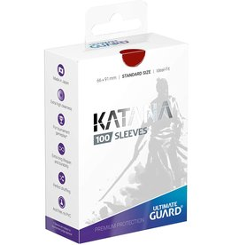 Ultimate Guard Katana Sleeves 100 Red