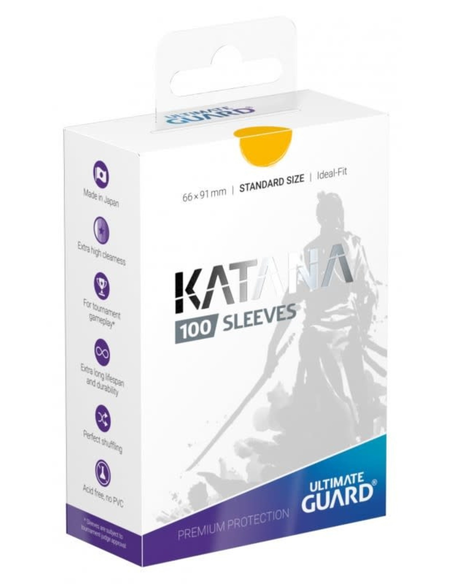 Ultimate Guard Katana Sleeves 100 Yellow