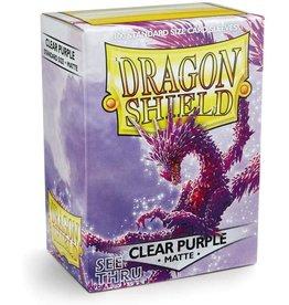 Arcane Tinmen Dragon Shield Clear Purple Matte 100 Standard