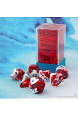 Chessex Gemini Red-White/blue Polyhedral 7-Die Set
