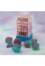 Chessex Gemini Gel Green-Pink/blue Polyhedral 7-Die Set
