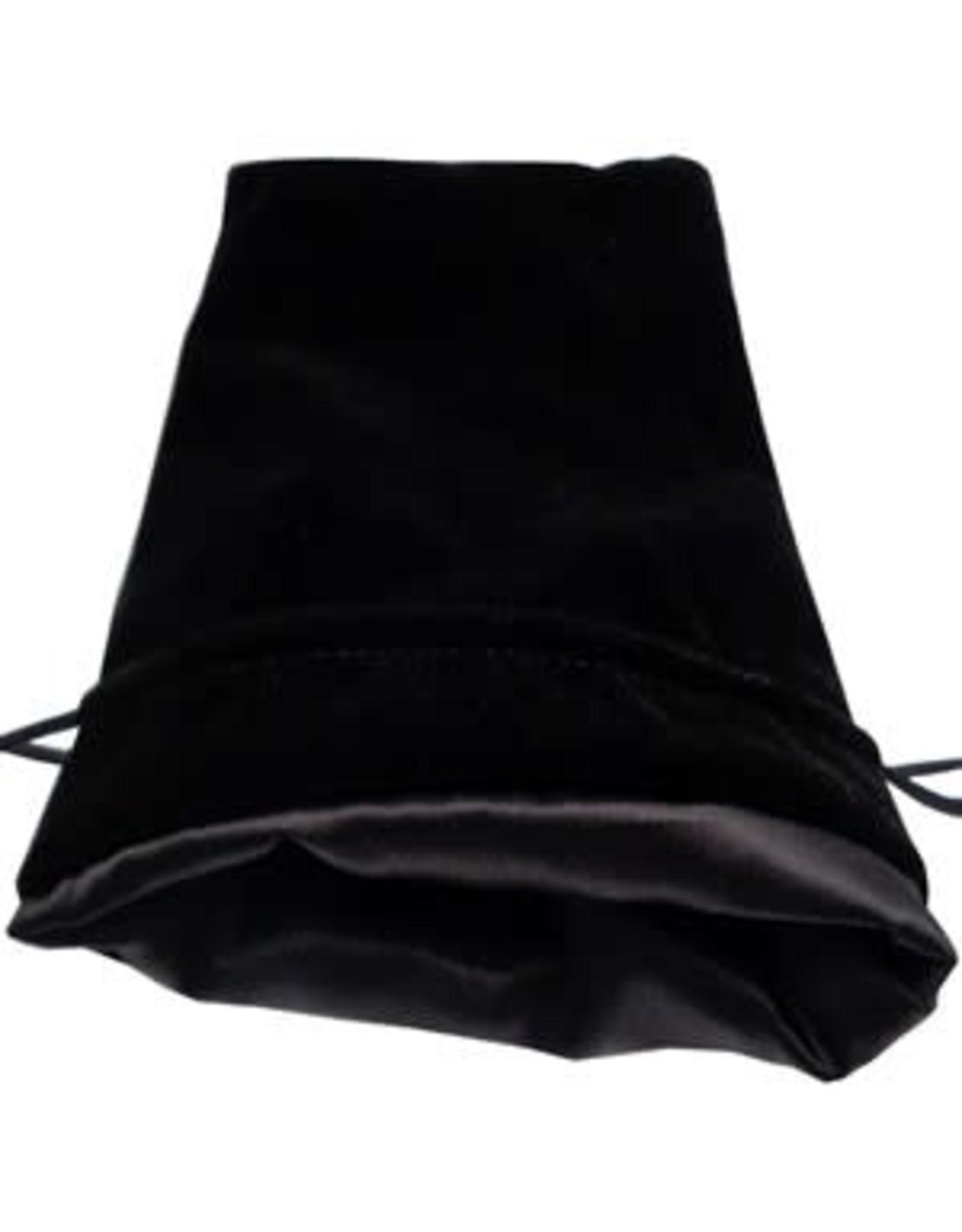 Metallic Dice Games Black Velvet Dice Bag with Black Satin